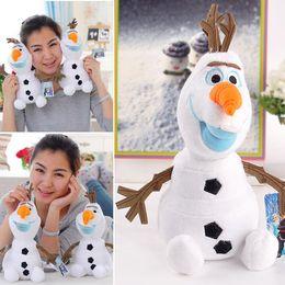 Wholesale 2014 Frozen Olaf muñeco de nieve nuevo venir del tamaño grande de juguetes de peluche muñeco de nieve felpa rellena Animales SV004036