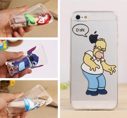 Wholesale Transparent Clear Simpson Princess Snow White Mermaid Girl Spider Man Hand Grasp The Logo Soft TPU Case For iPhone Plus iPhone7