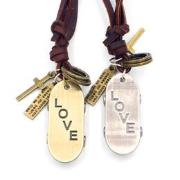 Skateboard Adjustable Leather Necklace Metal Pendant Charms Male Punk Rock Hiphop Decorations Amulet Fashion Jewelry 10pcs