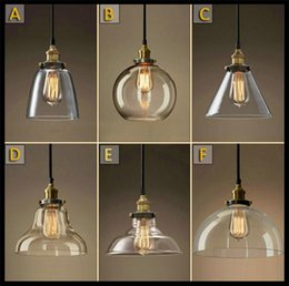Wholesale AC100 V Lustre Classic Vintage Chandelier Light Cafe Creative Glass Pendant Bar Lamp Clothing Store Fixtures Hanging Pendant Lights