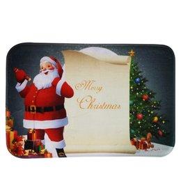 Wholesale Christmas Doormat Non Slip Rectangular carpets quot X quot Xmas Santa Snowman Design Bathroom Kitchen Rugs Mat