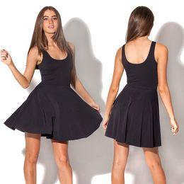 Women Summer Dress 2014 New Arrival Black Milk Black Dress Skater Dress for Women 2014 Women's Black Milk Dresses