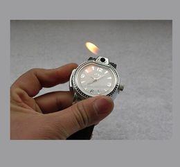 Wholesale Personalized Lighters Watches Novelty Man Quartz Wristwatch Butane Cigarette Cigar Men Watches Lighter Best Gift