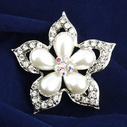 Wholesale Antique brooch fashion jewelry elegant upscale clothing collar costume pearl diamond brooch alloy Affiliate