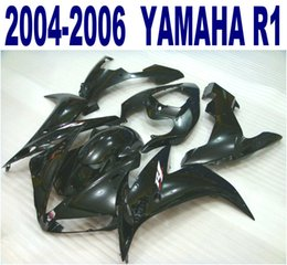 Injection molding plastic fairing kit for YAMAHA 2004 2005 2006 YZF R1 all glossy black fairings set yzf-r1 04-06 VL15