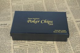 Wholesale High Quality Poker Chips Set Gift Box Casino Chips Texas Holdem Poker Set Chips Poker Dice Baccarat Chip Set