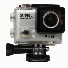 Wholesale Gopro Hero Sport camera Go Pro Style Camera Top K Full HD P With WIFI Control Phone Tablet PC meters Waterproof Camera