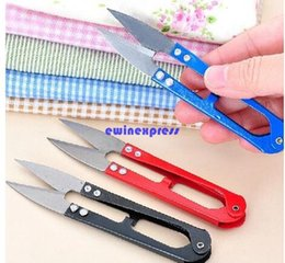 Wholesale 50pcs Mini U Shape Sewing scissors embroidery scissors Dressmaking Craft Sewing Thread spring yarn clipper snippers scissors