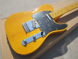 Wholesale New Arrival Custom Shop Yellow Telecaster Guitar Vintage Maple Fingerboard White New Arrival Custom Shop Chrome Hardware