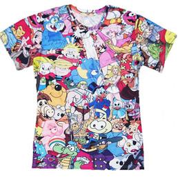 w1216 Totally 80s Cartoon T-Shirt ThunderCats Alvin the Chipmunks Character 3d t shirts Women Men tees tops plus size S-3XL