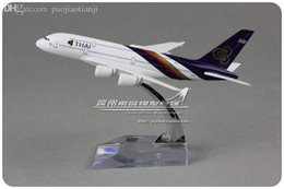 Wholesale cm Alloy Metal Air Thai Airlines Plane Model Airbus A380 Airways Aircraft Airplane Model Toy Gift