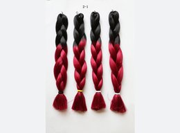 Sythetic hair braid Jumbo Ultra Braid Ombre color 165g kanekalon high temperature fiber x pression twist