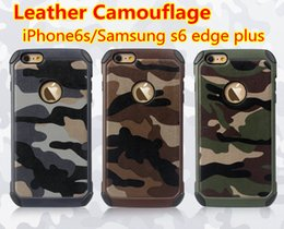 S6 Edge Plus Camo Cases 2 in 1 Leather Tpu Pc Cover Case For Apple 6s Plus Iphone6 Samsung Note4 Note5 G530 Combination Hybrid Cover cases