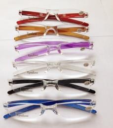 20pcs lot colorful Unbreakable transparent magnifier reading glasses plastic reading glasses pc reading glasses