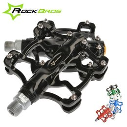 Wholesale 2014 New RockBros quot Aluminium Outdoor Sports BMX MTB Mountain Fixie Bike Bicycle Parts Cycling Cycle Platform Pedals Color
