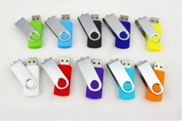 64GB Swivel metal Custom USB 2.0 Flash Memory Pen Drive Sticks Thumb Drives Disk Pendrives 100pcs
