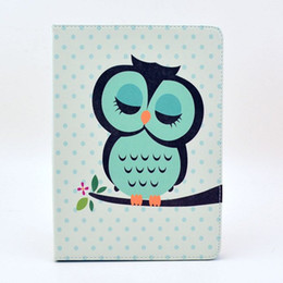 Cute Owl Flower Cat Tribal Cover With Stand Holder PU Leather Case for ipad mini 2 3 4 air 5 air2 6 free