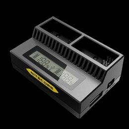 Usb gopro en venta-Cargador de batería elegante del USB del NUEVO Nitecore UPG3 Gopro 3 / 3+ Intellicharger del 100% con la pantalla del LCD para la batería de AHDBT - 201/301/302