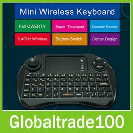 Wholesale Newest GHz Mini Wireless Keyboard and Remote Controller with Touchpad VIBOTON X3 Handheld Fly Air Mouse for TV Box CS918 MXIII M8 MXQ