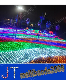 2017 rgb led net LIVRAISON GRATUITE LED Lumière Nette 220V 2m*2m 144LEDs Chaîne de Lumière Nette Imperméable à l'Extérieur des Vacances de Noël, Fée de la Lumière MYY4006A rgb led net promotion