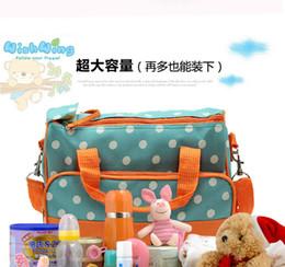 Wholesale Fashion Mummy Bags Baby Diaper Bag Nylon Big Size Mother Handbag Shoulder Bags Wet Mat Warm box Children Kids Nappy Bag Factory Price
