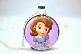 Wholesale 10pcs Sofia the First Necklace Glass Photo Cabochon Necklace