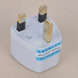 Wholesale 100pcs Universal US AU EU to UK AC Power Plug Travel Adapter England UK Plug Free DHL FEDEX Shipping