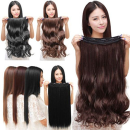 Wholesale Synthetic Hair Retail Fashion full head Clip In Hair Extensions Curly with clips long