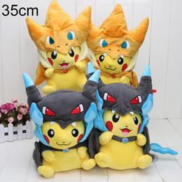 Mega tv en Línea-13inch 35cm Poke peluche Mega Pikachu Cosplay X Charizard Brinquedo Plush Juguetes Películas de dibujos animados Peluche Películas TV