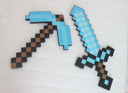 Wholesale Mix Accepted high copy Minecraft sword Figure toy Minecraft Foam Sword Piackaxe AXE Hoe Shovel Sword Pickaxe