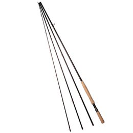 Wholesale 9 m ft Sections Carbon Fly Fishing Rod g oz Saltwater Fly Rod w A grade Cork Handle Aluminium Reel Seat