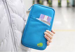 Wholesale Paper bag zero wallet Travel Organiser Passport Ticket Holder Wallet Full Closure Zip Document Bag FREE SHIPING By DHL
