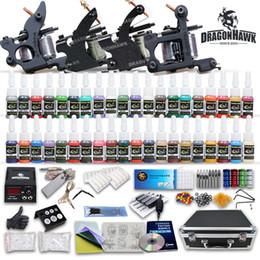 Top Complete Tattoo Kit 4 Machine Guns 40 Color Ink Set Power Supply 50 pcs Needles D120GD-1