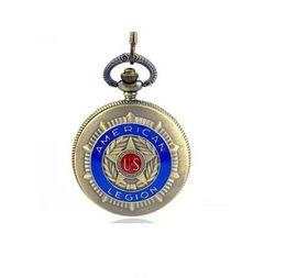Wholesale Hot Sale new popular in American Legion Pocket Watch Women Men Best Gift steampunk for you