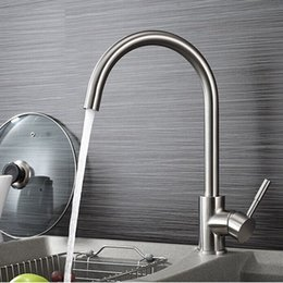 Stainless Steel Kitchen Mixer Taps Chromed Faucets Kitchen Sink Basin Swivel Mixer Tap Faucet C3002