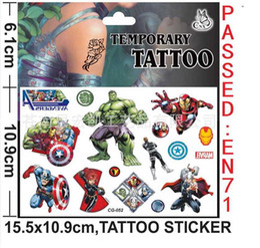 Wholesale Batman Super hero The Avengers Anime Cartoon Tattoo Stickers Body Stickers For Women Men Baby Children Boy Girls Children s Gift