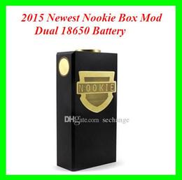 2015 Nookie Caja Mod vaporizador de Vape Negro Nookie mecánica pin mods cobre encaja doble 18650 Mod 510 Nookie hilo de DHL desde cobre vaporizador mod fabricantes