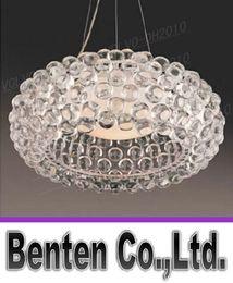 Wholesale llfa827 New Dia m FOSCARINI Style Caboche Acrylic Ball Pendant Lamp LED modern chandelier