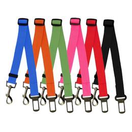 Wholesale Seatbelt Harness - Wholesale-Adjustable Pet Cat Dog Car Safety Seat Belt Harness Vehicle Seatbelt Lead Leash for Dogs 6 Colours Drop Shipping
