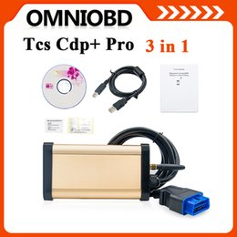 Wholesale New Arrival in TCS PRO with OKI chip Bluetooth Gold No keygen cars trucks Diagnostic