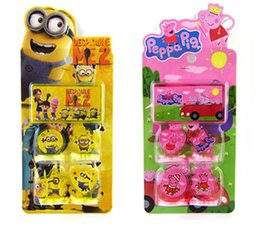 Wholesale 120pcs Frozen stamp Childrens cartoon stationery stamper set Despicable Me Spider man designs Action Figures HX