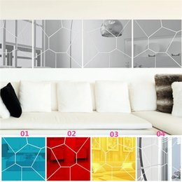 Wholesale New Arrivals set Wall Stickers Wallpaper Decal Mirror Moire Pattern Home Decor Removable Size mm JM2