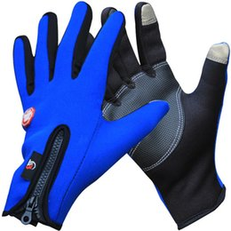 Wholesale Best price Screen Touch Gloves for iphone ipad Outdoor Sports Full Finger Waterproof Windproof Winter Glove Men