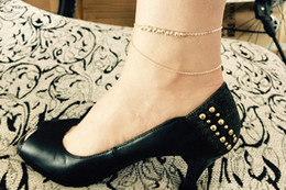 Women Anklet Metallic Fashion multilayer metal Beads Sexy Ankle Chain New Lady Elegant Minimalistic Joker Foot Chain Anklet