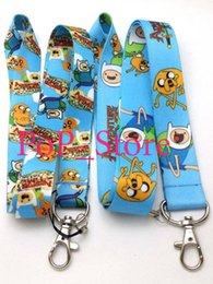Wholesale Cartoon Adventure Time Cell Phone Straps Charms neck Lanyard Key Chain quot