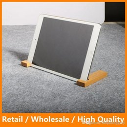 Wholesale Portable Magnetic Bamboo Wood Stand Holder Kickstand for iPhone iPad Sansung Universal Phone iPad Tablet PC