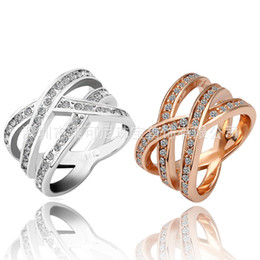 Wholesale New Genuine K Sterling Silver Rings For Women Silver Big Ring Anillos de Plata Silver Jewelry Ring Two Colors