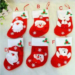 Descuento bolsas de bolsillos Decoraciones del partido 1560pcs de Navidad de Santa Claus muñeco calcetines de dulces de Navidad regalos bolsa Cocina Cubiertos Tenedores Bolsillos gente Cuchillos Bolsa