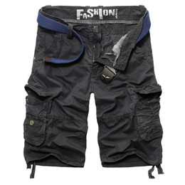 Wholesale-2015 Summer Mens Gym Running Shorts High Quality Army Cargo Shorts Men Outdoor Beach Bermudas Borad Shorts Mens Clothing