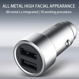 Wholesale Original Xiaomi Fast Charging Car Charger Metal Style Dual USB Output V A Quick Charging V Input High Power Conversion Rate